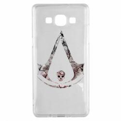 Чехол для Samsung A5 2015 Assassins Creed and skull