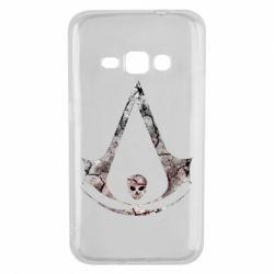 Чехол для Samsung J1 2016 Assassins Creed and skull