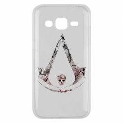 Чехол для Samsung J2 2015 Assassins Creed and skull