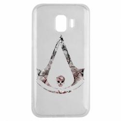 Чехол для Samsung J2 2018 Assassins Creed and skull