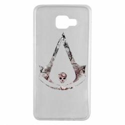 Чехол для Samsung A7 2016 Assassins Creed and skull