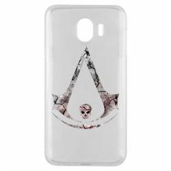 Чехол для Samsung J4 Assassins Creed and skull