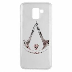 Чехол для Samsung J6 Assassins Creed and skull