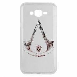 Чехол для Samsung J7 2015 Assassins Creed and skull