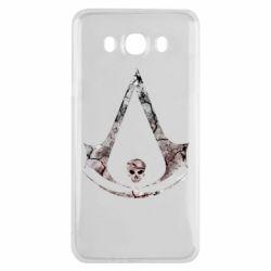 Чехол для Samsung J7 2016 Assassins Creed and skull