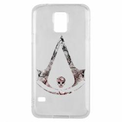 Чехол для Samsung S5 Assassins Creed and skull