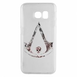 Чехол для Samsung S6 EDGE Assassins Creed and skull