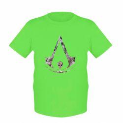 Детская футболка Assassins Creed and skull