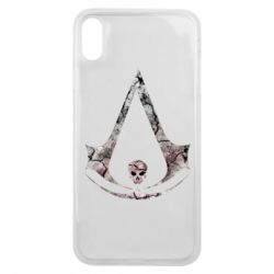 Чехол для iPhone Xs Max Assassins Creed and skull