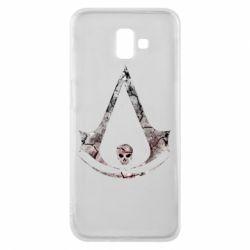 Чехол для Samsung J6 Plus 2018 Assassins Creed and skull