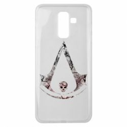 Чехол для Samsung J8 2018 Assassins Creed and skull