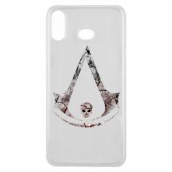 Чехол для Samsung A6s Assassins Creed and skull