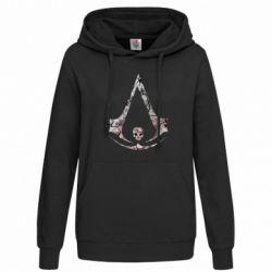 Женская толстовка Assassins Creed and skull
