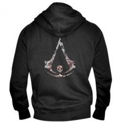 Мужская толстовка на молнии Assassins Creed and skull