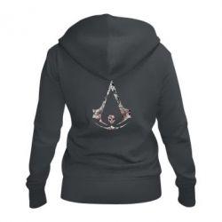 Женская толстовка на молнии Assassins Creed and skull