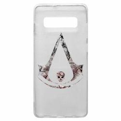 Чехол для Samsung S10+ Assassins Creed and skull