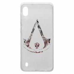 Чехол для Samsung A10 Assassins Creed and skull