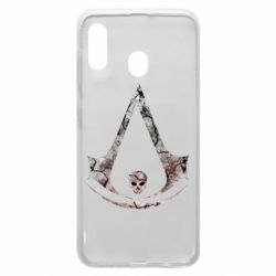 Чехол для Samsung A20 Assassins Creed and skull