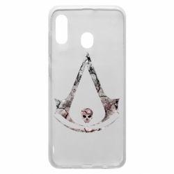 Чехол для Samsung A30 Assassins Creed and skull