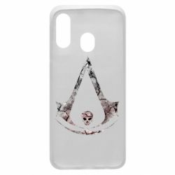 Чехол для Samsung A40 Assassins Creed and skull
