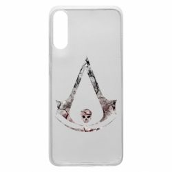 Чехол для Samsung A70 Assassins Creed and skull