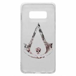 Чехол для Samsung S10e Assassins Creed and skull
