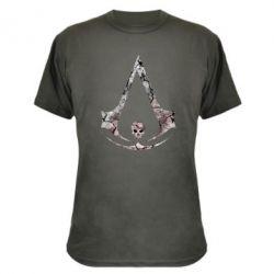 Камуфляжная футболка Assassins Creed and skull
