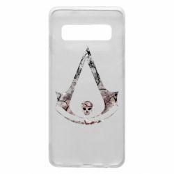 Чехол для Samsung S10 Assassins Creed and skull