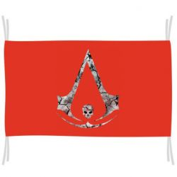 Флаг Assassins Creed and skull