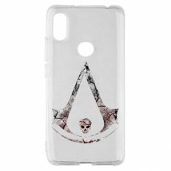 Чехол для Xiaomi Redmi S2 Assassins Creed and skull