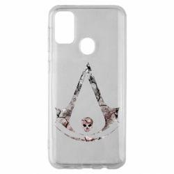 Чехол для Samsung M30s Assassins Creed and skull