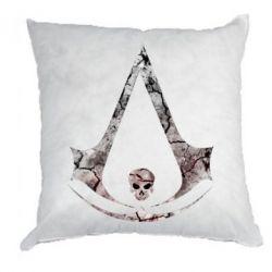 Подушка Assassins Creed and skull