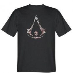 Мужская футболка Assassins Creed and skull
