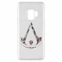 Чехол для Samsung S9 Assassins Creed and skull