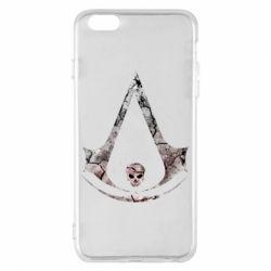 Чехол для iPhone 6 Plus/6S Plus Assassins Creed and skull