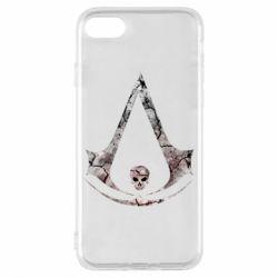 Чехол для iPhone 8 Assassins Creed and skull