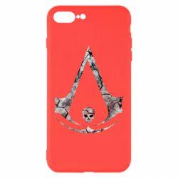 Чехол для iPhone 8 Plus Assassins Creed and skull