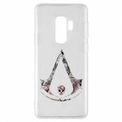 Чехол для Samsung S9+ Assassins Creed and skull