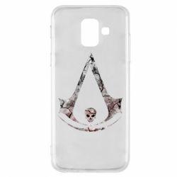 Чехол для Samsung A6 2018 Assassins Creed and skull