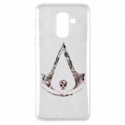 Купить Assassin's Creed, Чехол для Samsung A6+ 2018 Assassins Creed and skull, FatLine