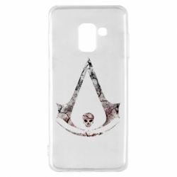Чехол для Samsung A8 2018 Assassins Creed and skull