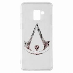 Чехол для Samsung A8+ 2018 Assassins Creed and skull