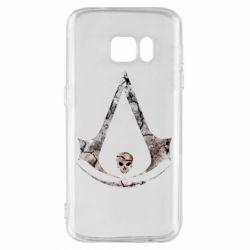 Чехол для Samsung S7 Assassins Creed and skull