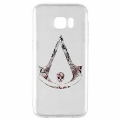Чехол для Samsung S7 EDGE Assassins Creed and skull