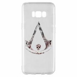 Чехол для Samsung S8+ Assassins Creed and skull