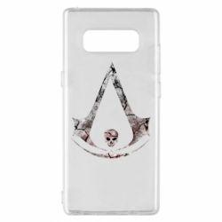 Чехол для Samsung Note 8 Assassins Creed and skull