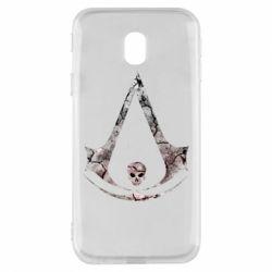 Чехол для Samsung J3 2017 Assassins Creed and skull