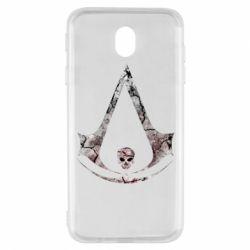 Чехол для Samsung J7 2017 Assassins Creed and skull