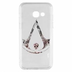 Чехол для Samsung A3 2017 Assassins Creed and skull