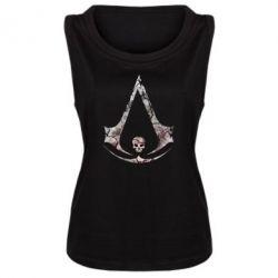 Женская майка Assassins Creed and skull